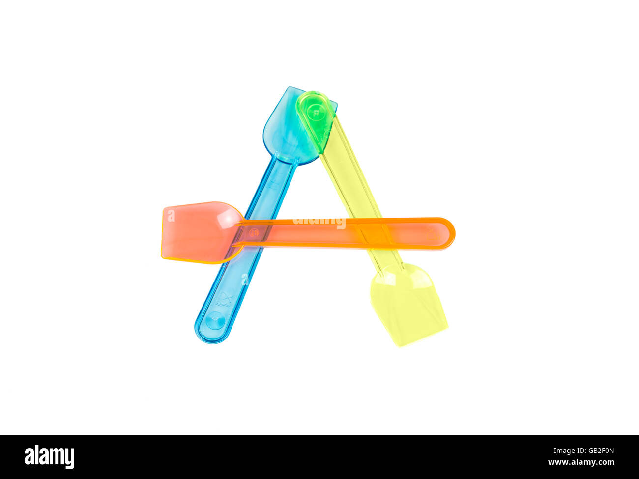 A letter with ice cream spoons - Stock Image