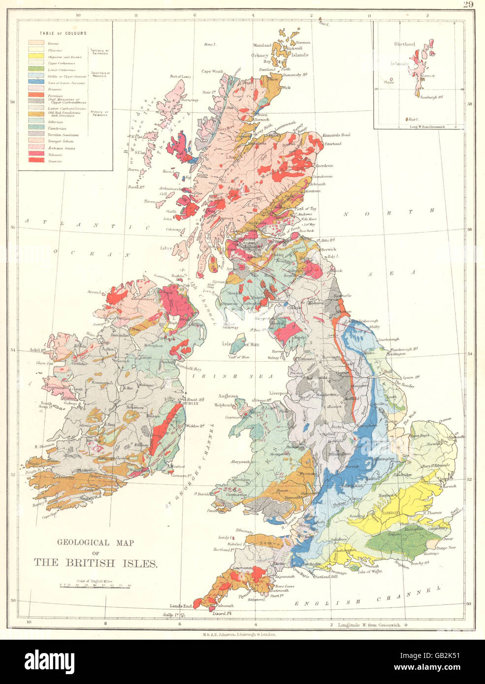 Picture of: United Kingdom Geographical Map Of The British Isles 1897 Stock Photo Alamy