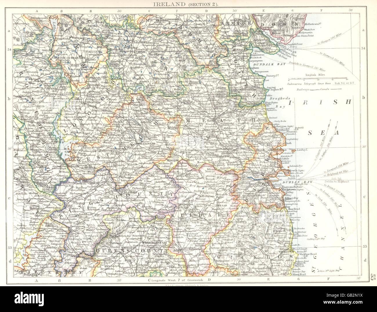 Map Of Dublin 7 Ireland.Ireland Kildare Wicklow Meath Dublin Longford Louth Offaly Laios