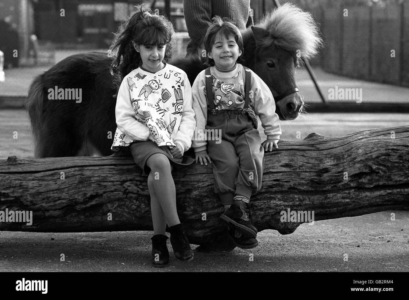 Bobo Childrenswear - London Zoo - 1990 Stock Photo
