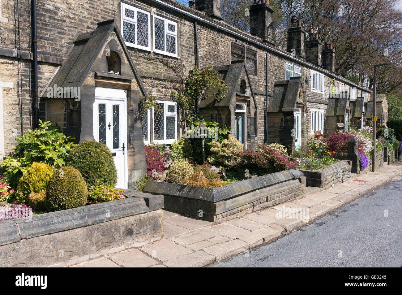 Yorkshire Terrace: 19th Century Houses Stock Photos & 19th Century Houses