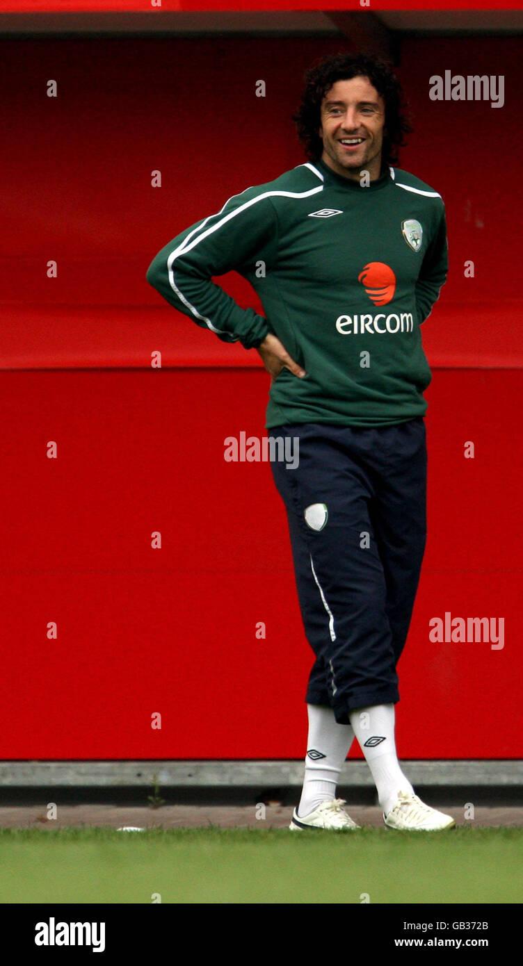 Soccer - World Cup Qualifying - Republic of Ireland Press Conference - Stadion am Bruchweg Stock Photo