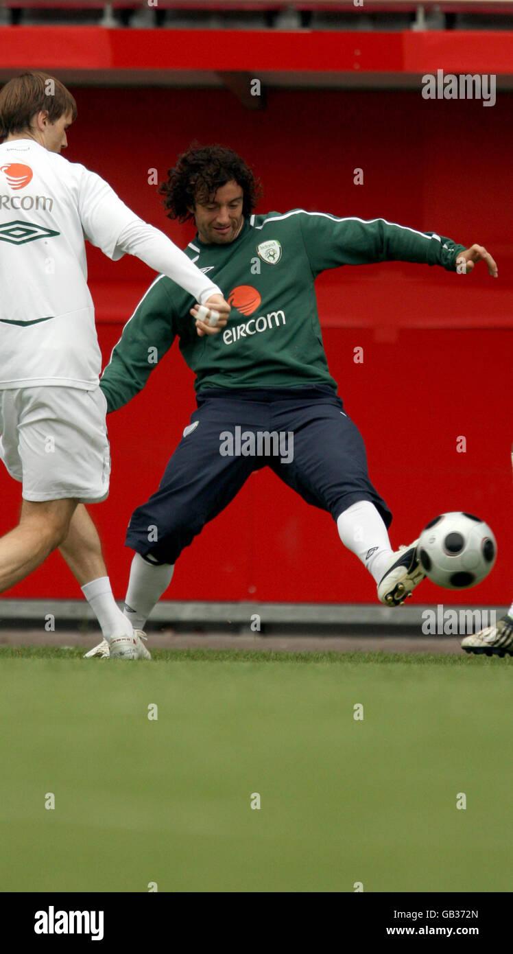 Soccer - World Cup Qualifying - Republic of Ireland Press Conference - Stadion am Bruchweg - Stock Image