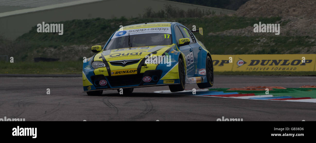 British Touring Cars Thruxton Motor Circuit Dan Welch Goodestone Racing - Stock Image