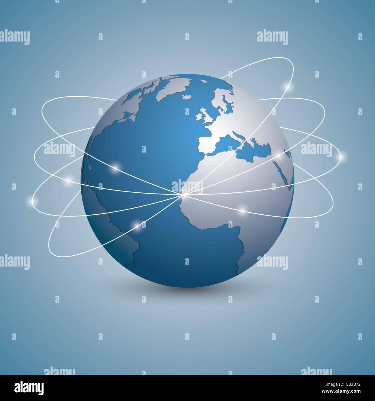 Isolated global communication logo - Stock Vector