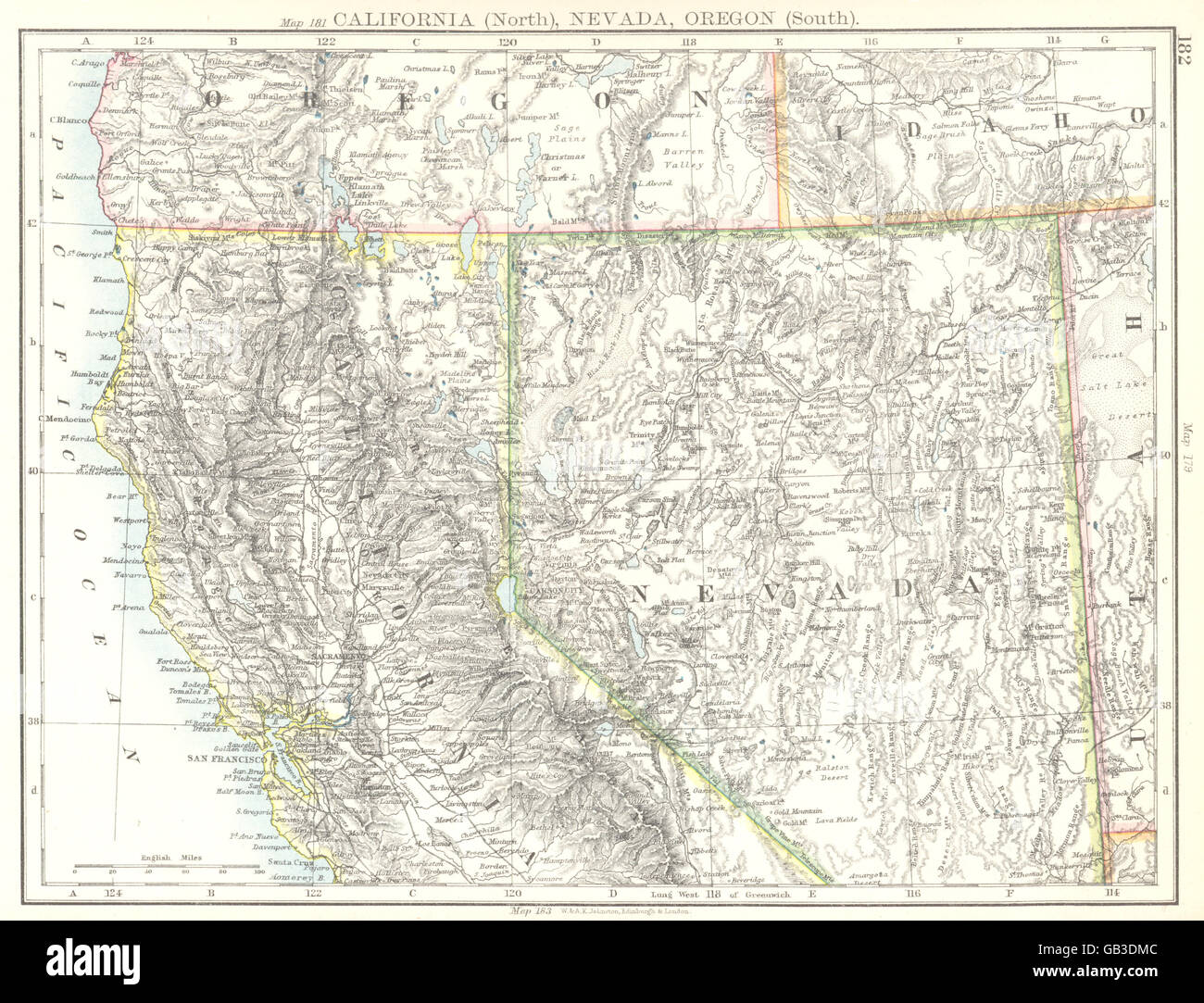 USA: California (North) Nevada, Oregon (South) , 1897 ...