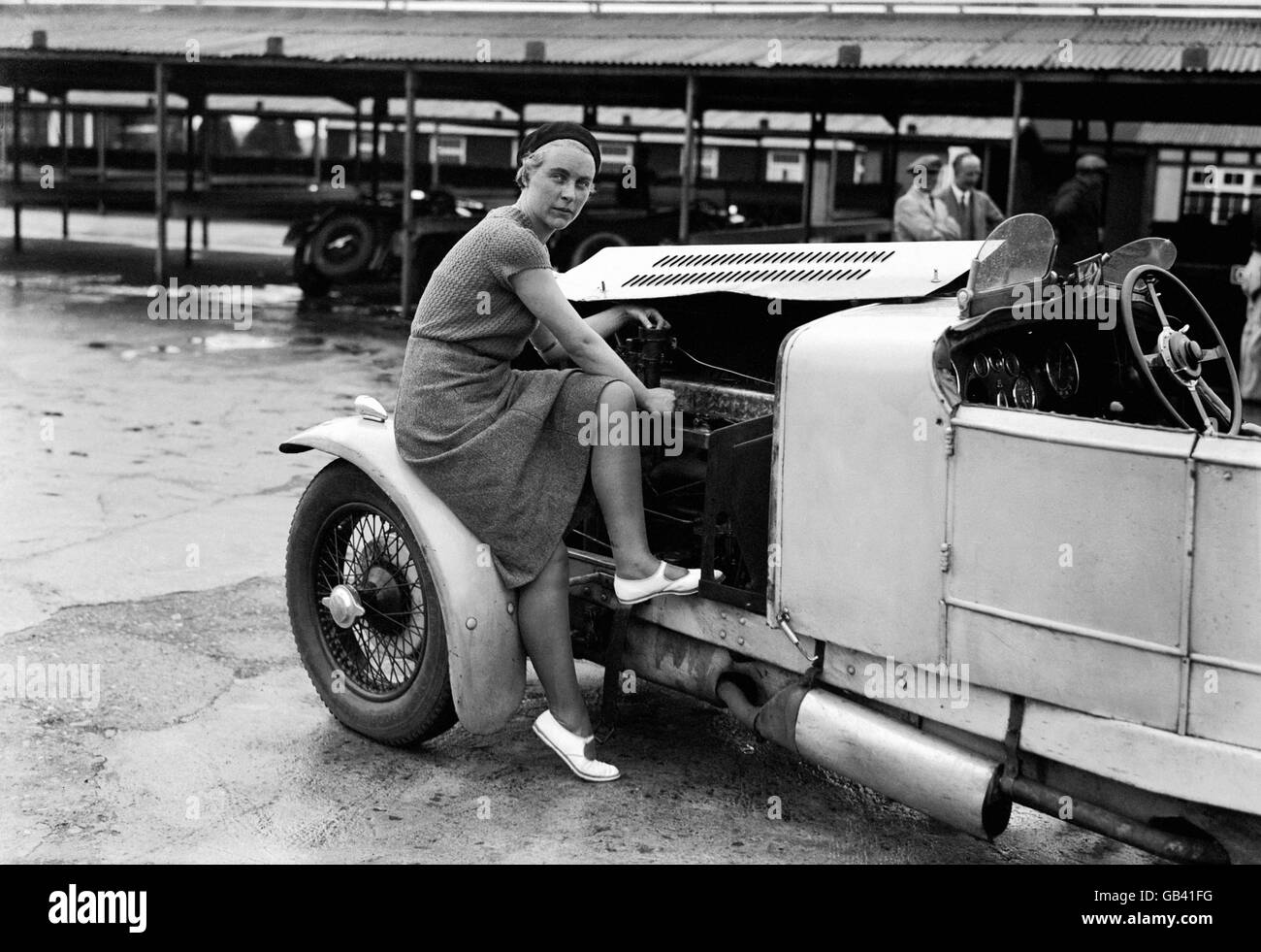 Motor Racing - Kitty Brunell - Brooklands - Stock Image