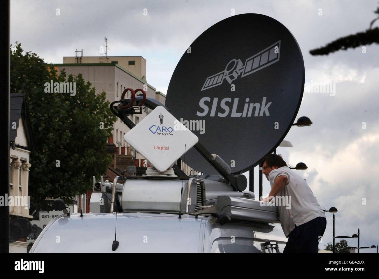 TV Broadcast vehicle - Stock Image