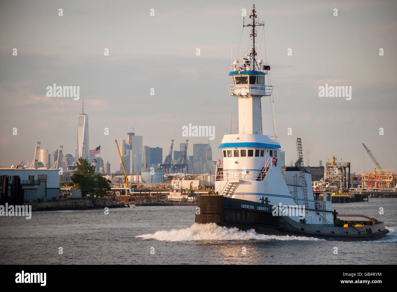 The Genesis Liberty tugboat, owned by the Genesis Marine