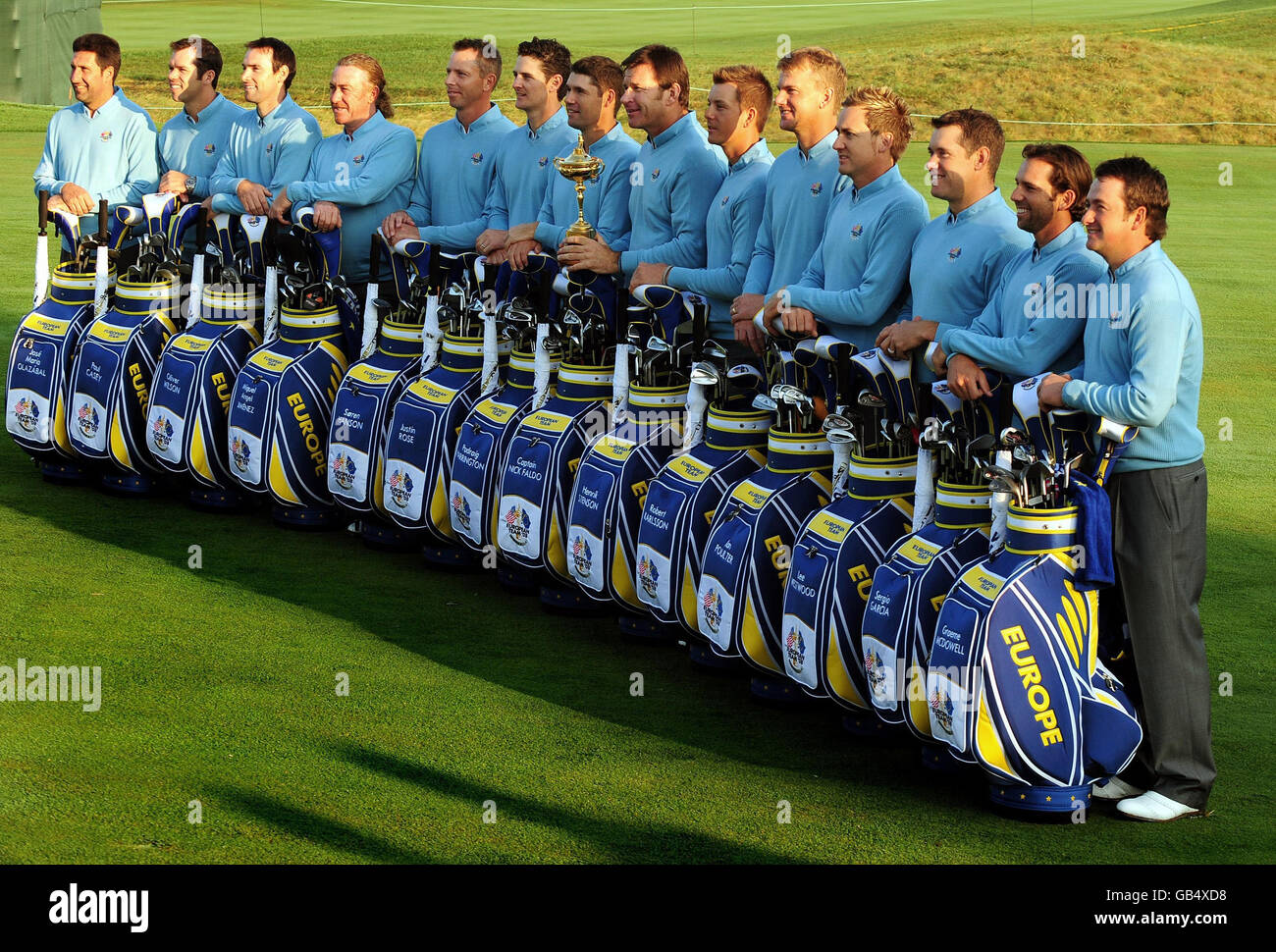 Golf 37th Ryder Cup Usa V Europe Practice Day Valhalla Golf Stock Photo Alamy