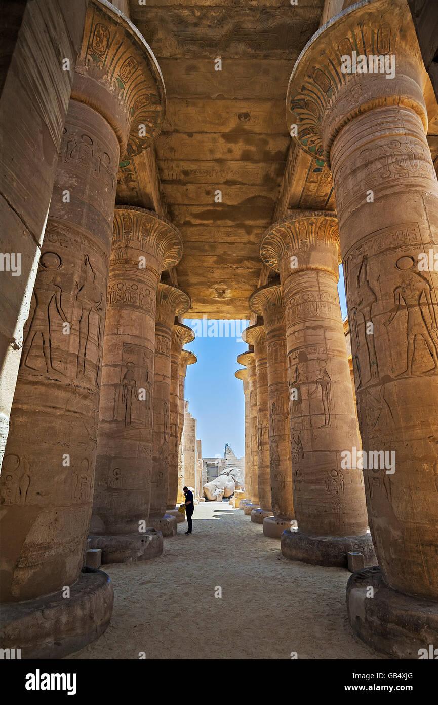 Arcade, Ramesseum Temple, Luxor, Egypt - Stock Image
