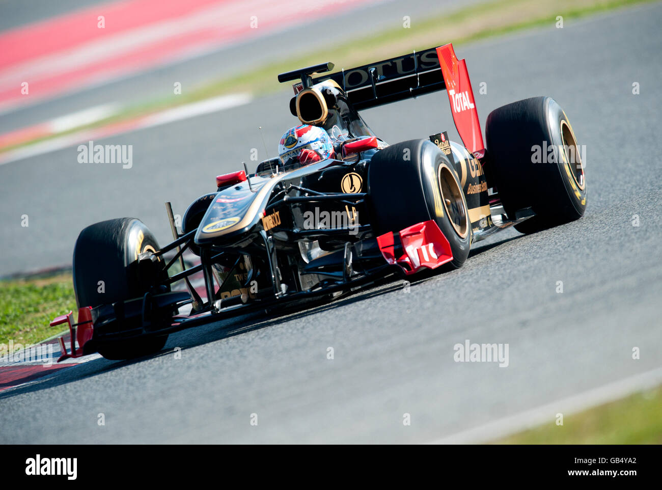 Russian driver Vitaly Petrov driving a Lotus Renault GB Team-Renault R31 car, motor sports, Formula 1 testing at - Stock Image