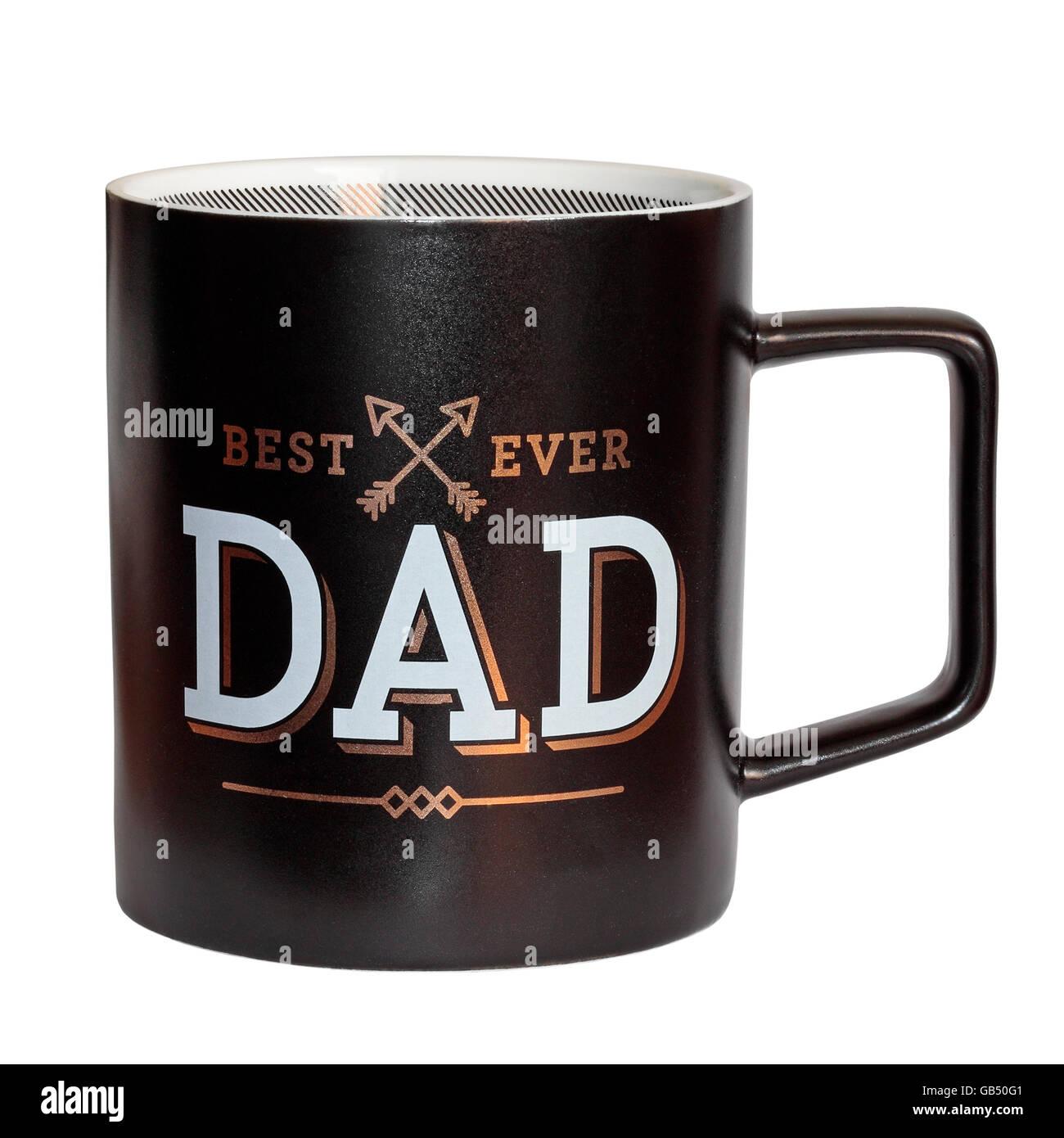 Best Ever Dad mug isolated on white background - Stock Image