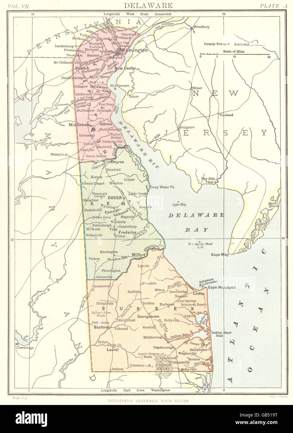 Delaware State Map on