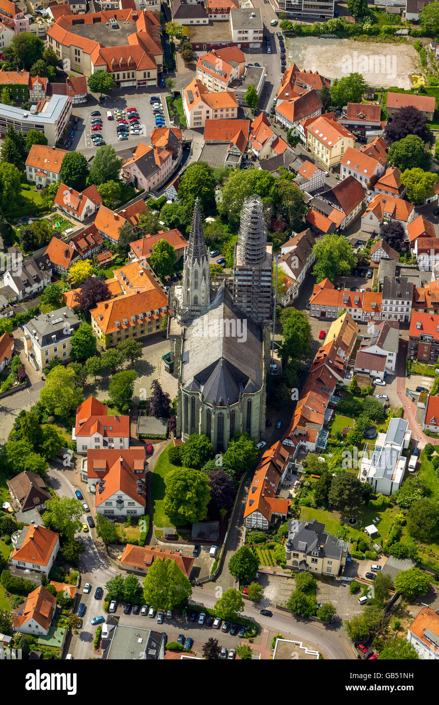 Aerial view, Sankt Maria zur Wiese, Soest, Soester Plain, North Rhine-westphalia, Germany, Europe, Germany Europe, - Stock Image