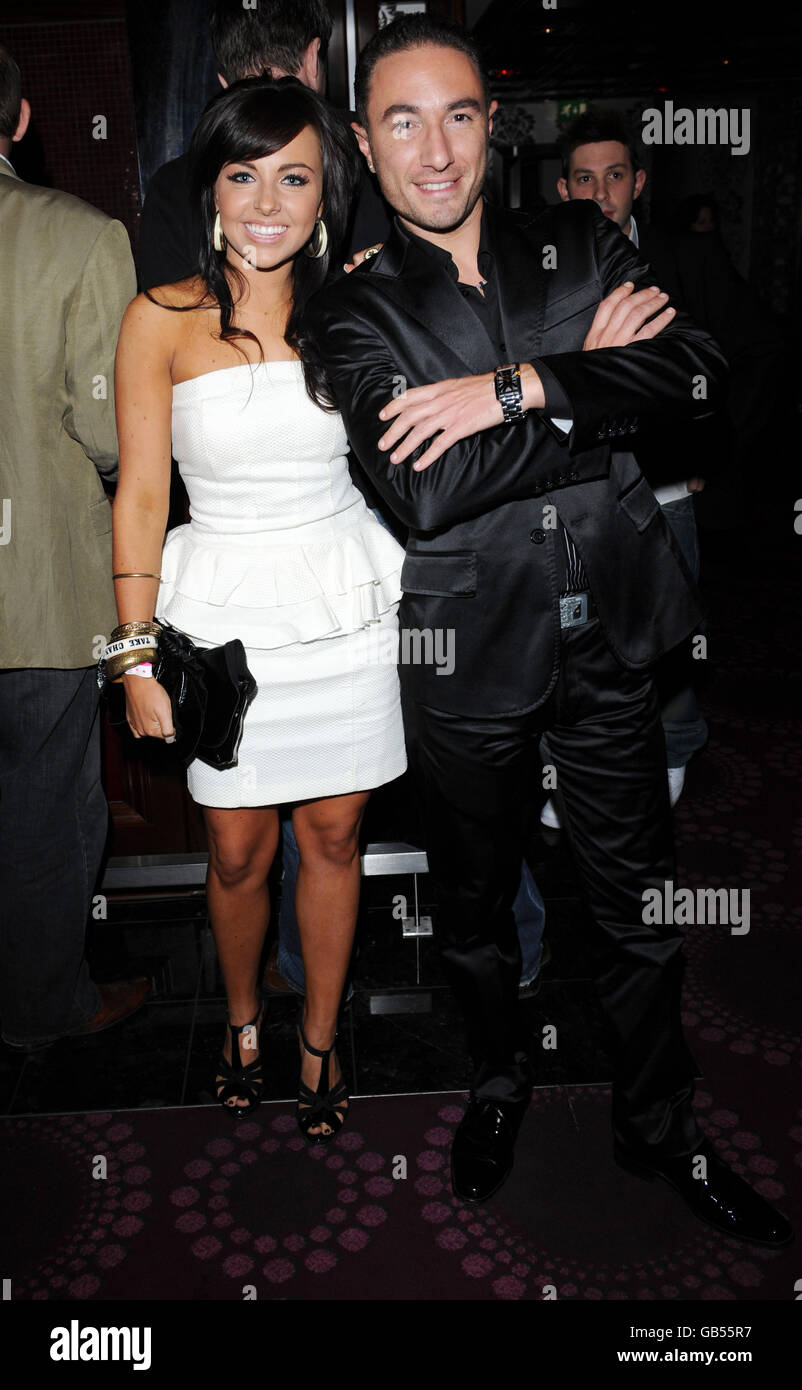 Louisa Lytton and Vincent Simone at the Topic Thunder Premiere after party, London. Stock Photo