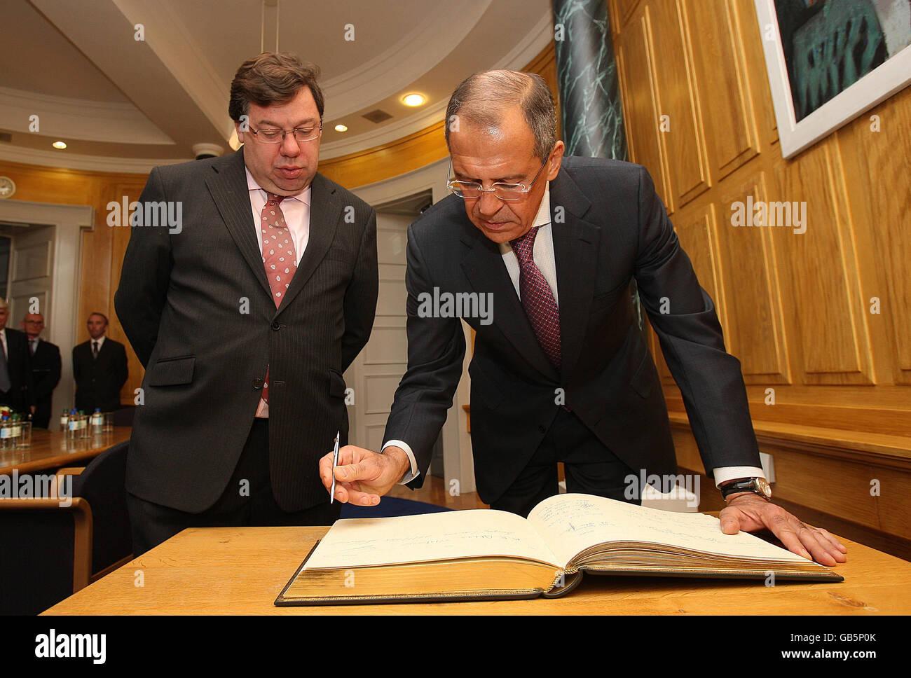 Sergey Lavrov visits Ireland - Stock Image