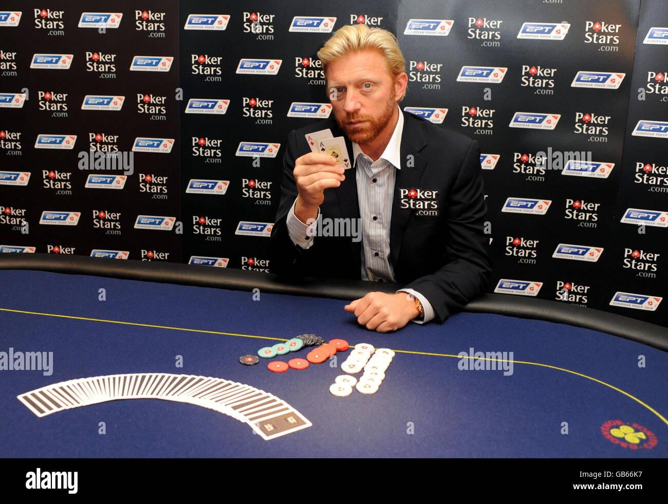 Boris Becker Launches The Pokerstars Com European Poker Tour London Stock Photo Alamy