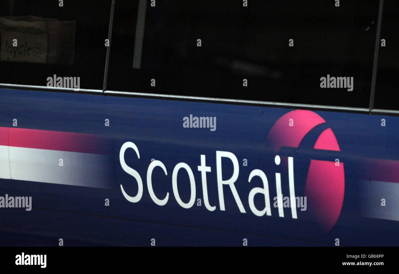 First Scot Rail Train - Stock Image