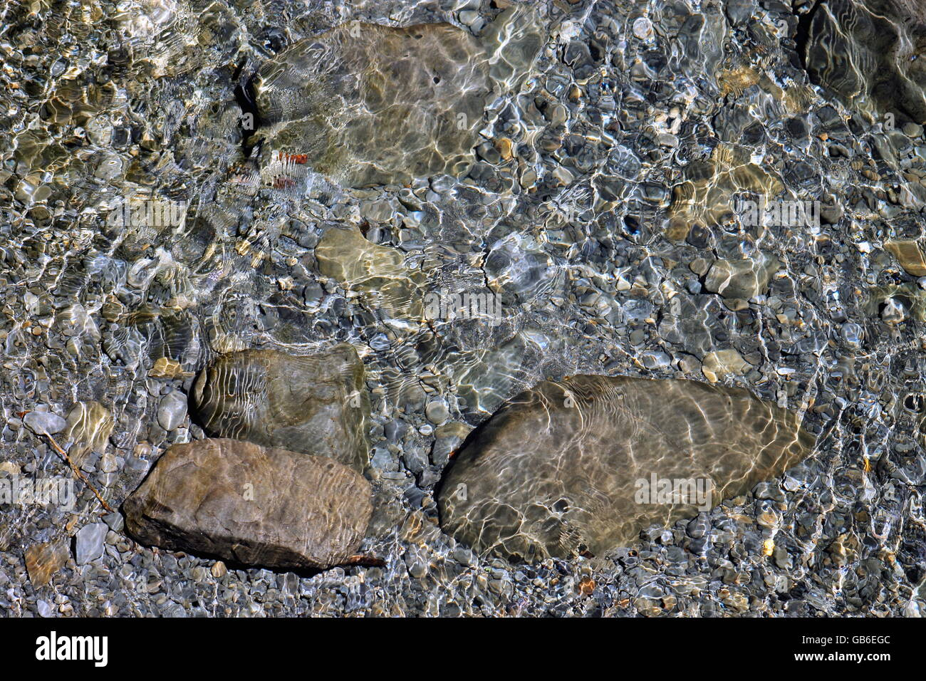 Shallow Riverbed - Stock Image