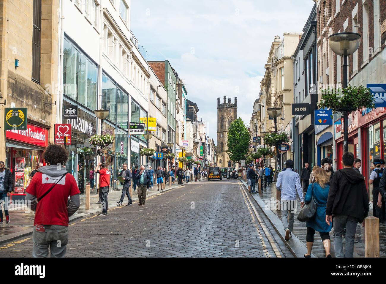 Bold Street Liverpool England UK - Stock Image