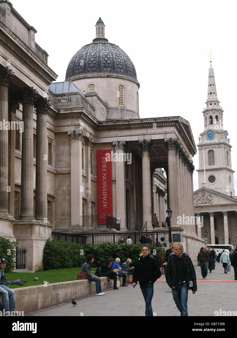 National Gallery staff strike - Stock Image