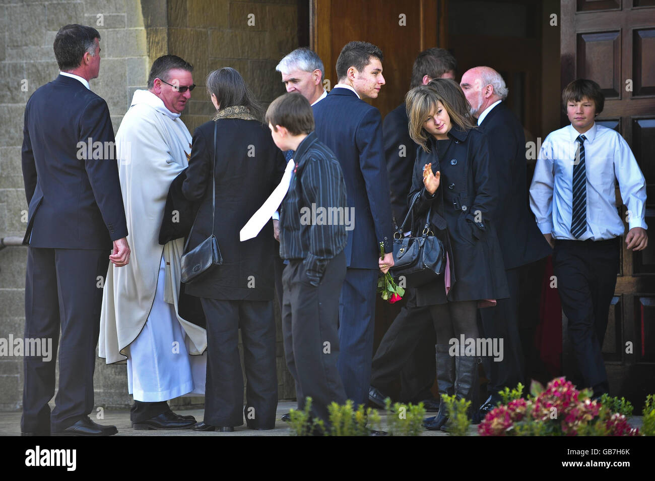 Funeral of air crash victims - Stock Image