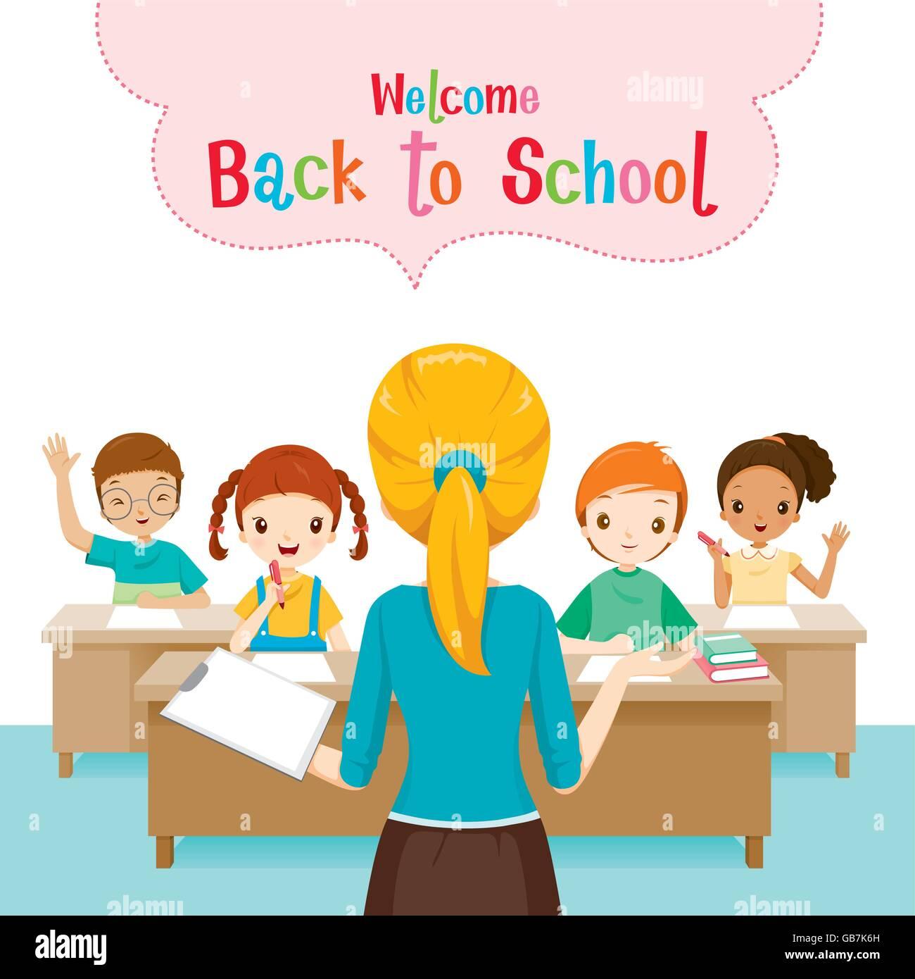Study Teaching: Teacher Teaching Students In Classroom, World Book Day