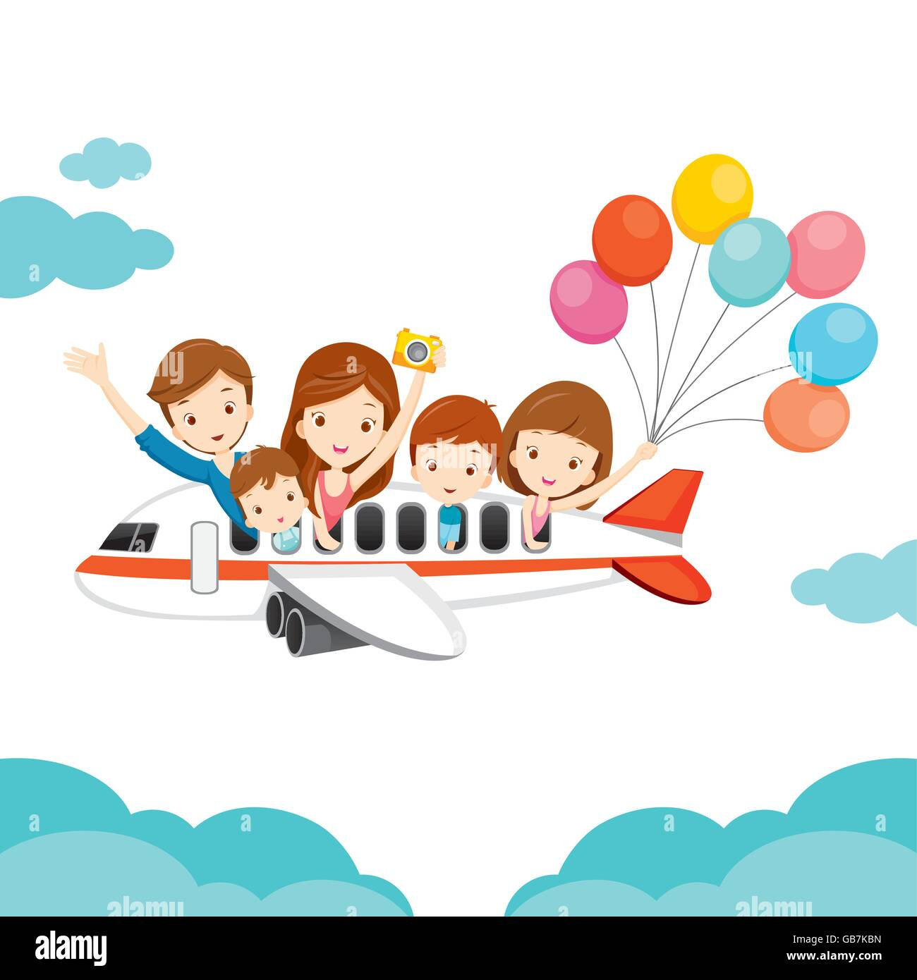 Vacations Airplane Holiday On Travel Family Destination Happy