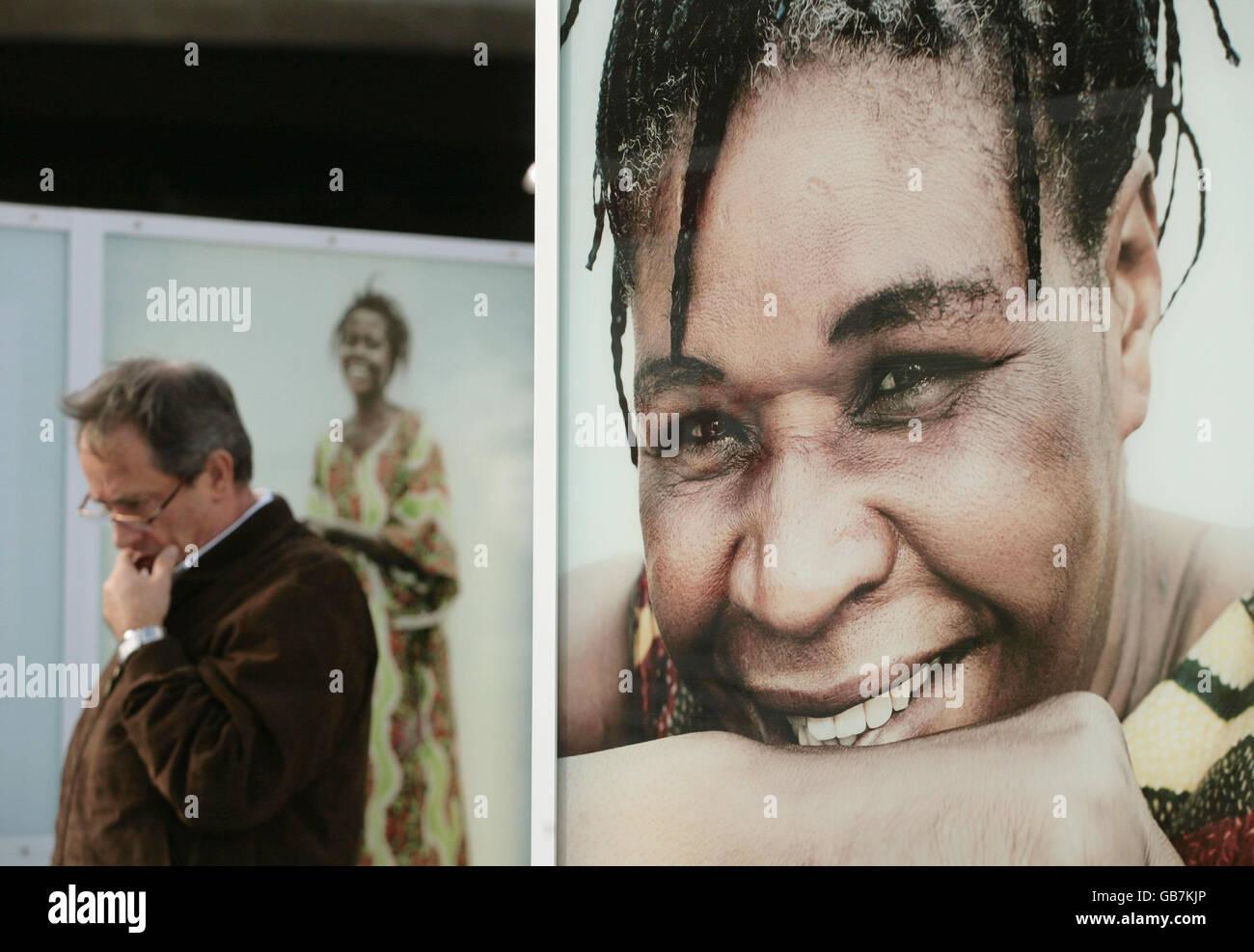 Rankin's Congo exhibition - Stock Image