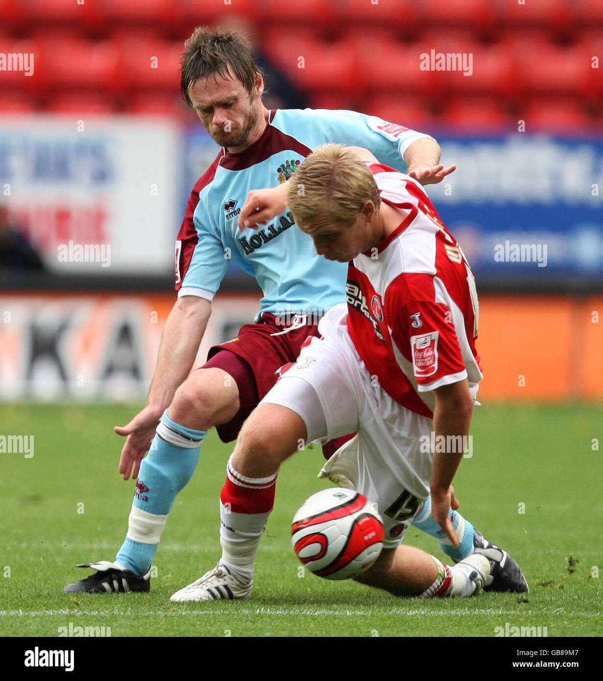 Soccer - Coca-Cola Football League Championship - Charlton Athletic v Burnley - The Valley - Stock Image