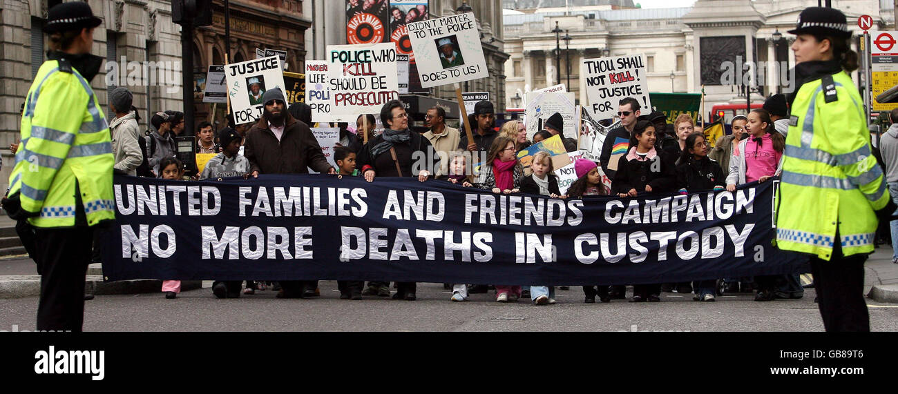 United Friends and Families Campaign Remembrance Procession - Stock Image