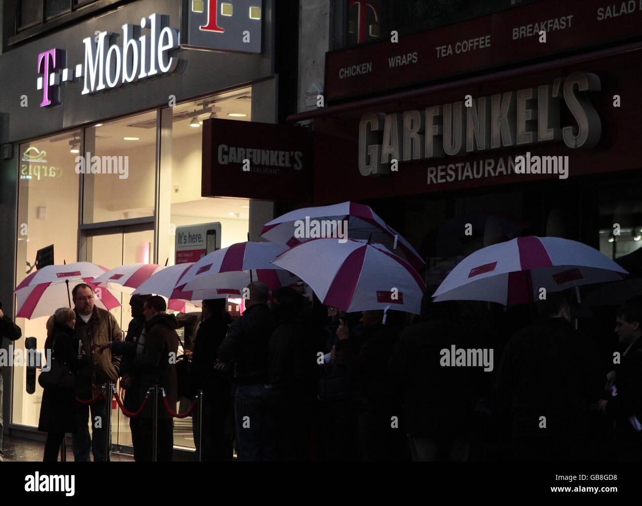 T-Mobile G1 - London - Stock Image