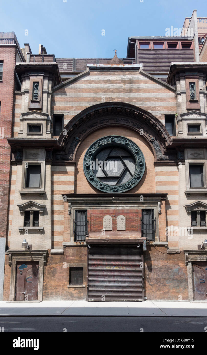 The Emery Roth Synagogue, now an art studio, on Rivington Street on Lower East Side in New York City - Stock Image