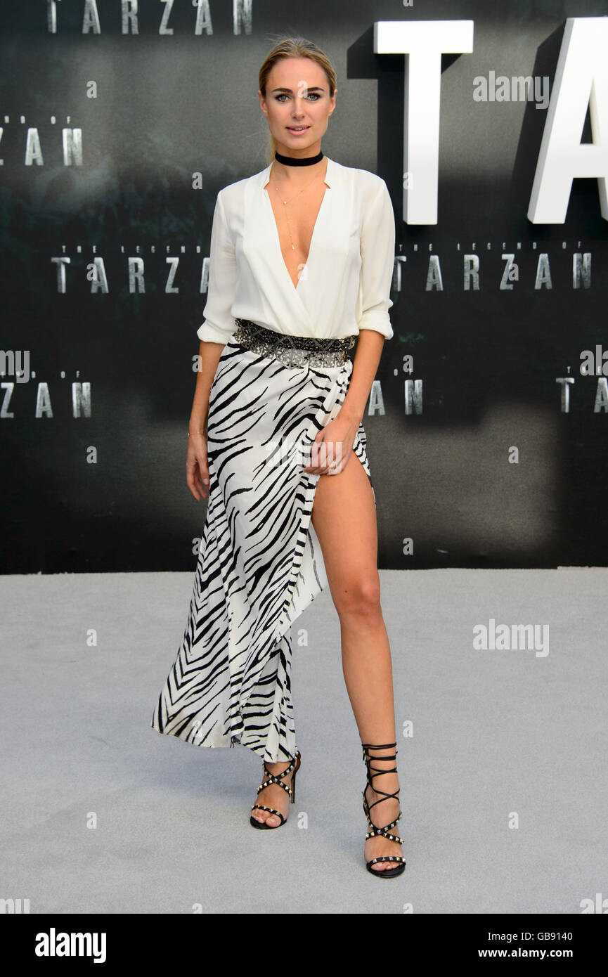 Kimberley Garner at the European premiere The Legend Of Tarzan - Stock Image