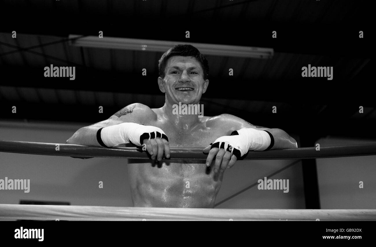 Boxing - Ricky Hatton Media Work Out - IBA Gym - Stock Image