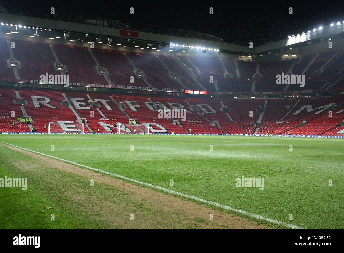 Soccer - Carling Cup - Quarter Final - Manchester United v Blackburn Rovers - Old Trafford - Stock Image