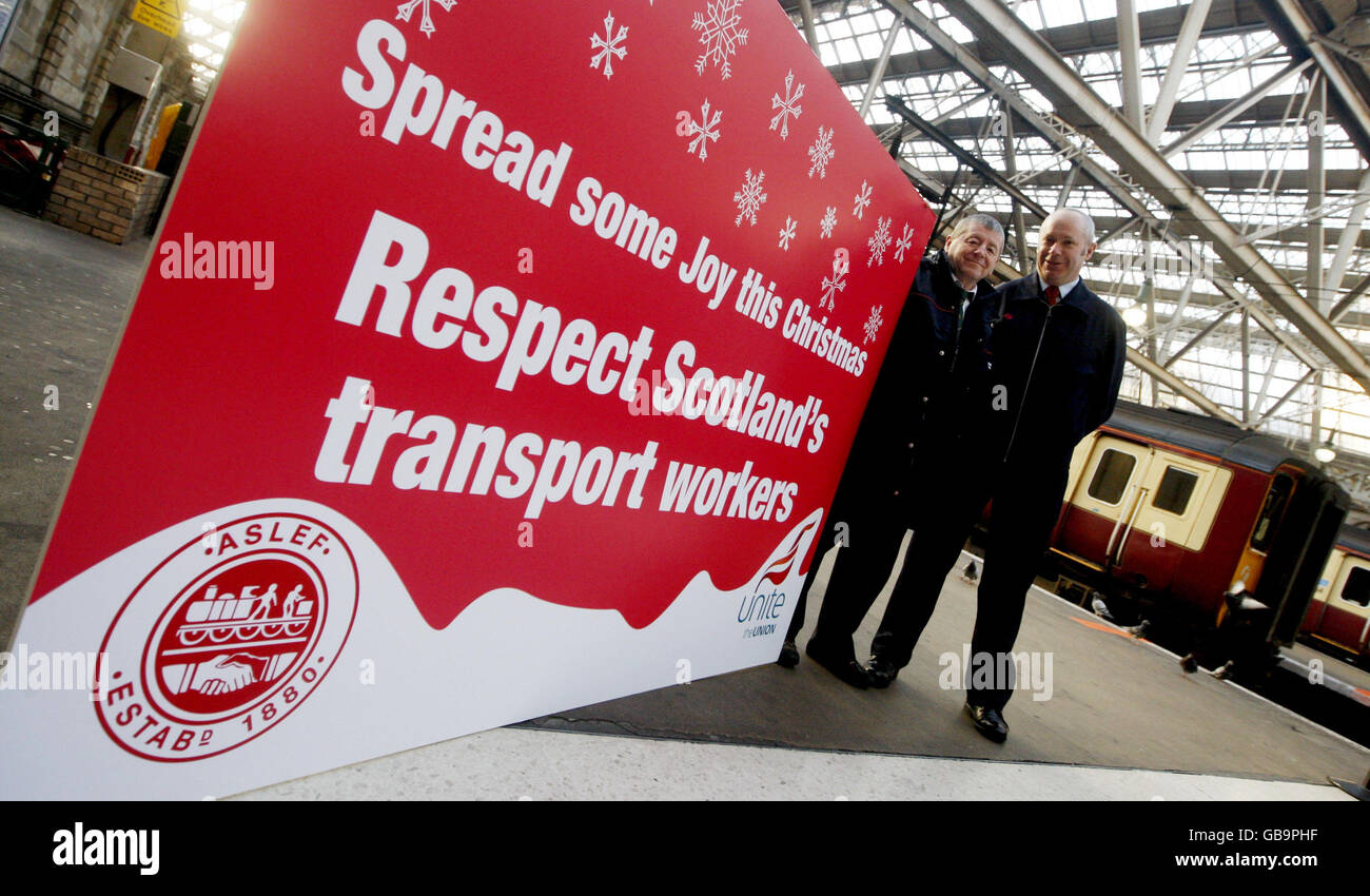 Scottish transport workers campaign against abuse - Stock Image