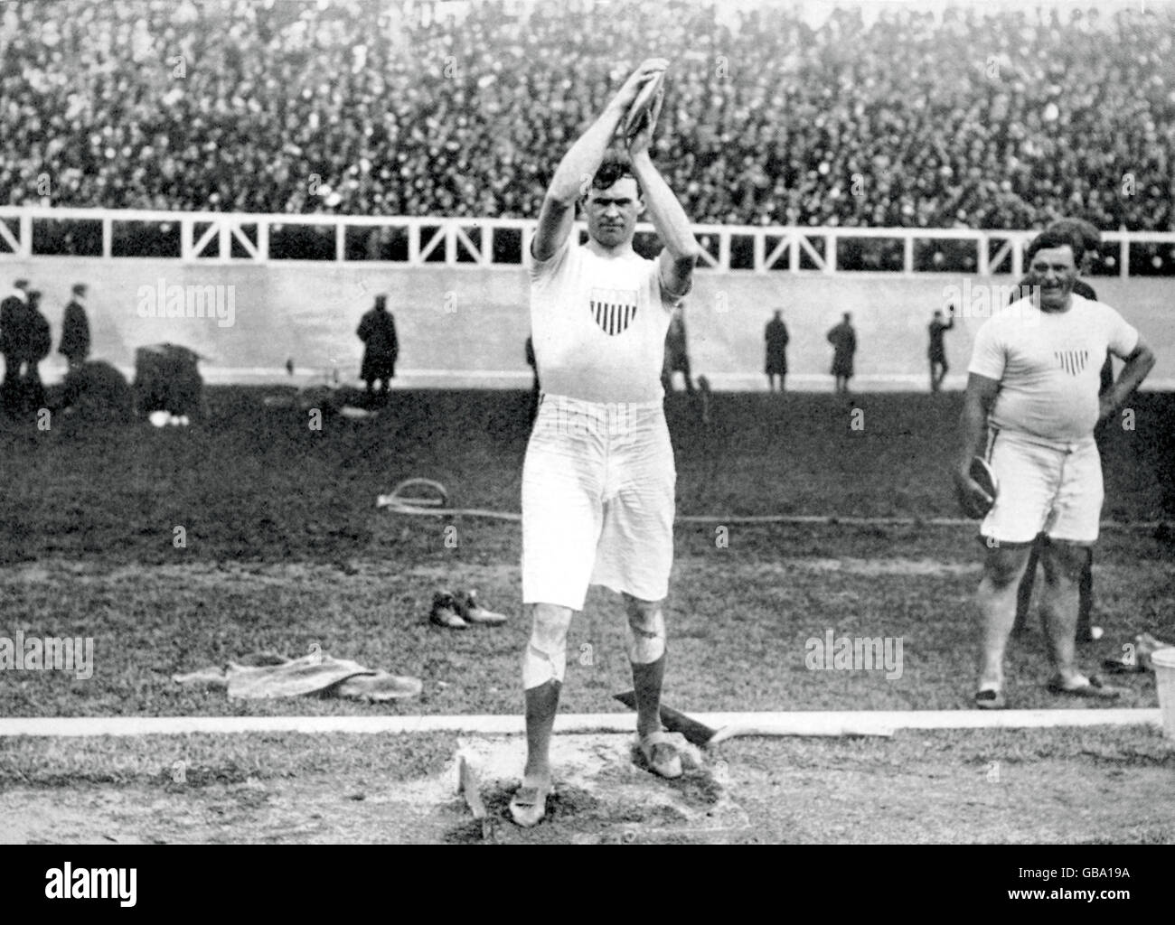 Athletics - London Olympic Games 1908 - Men's Discus - Stock Image