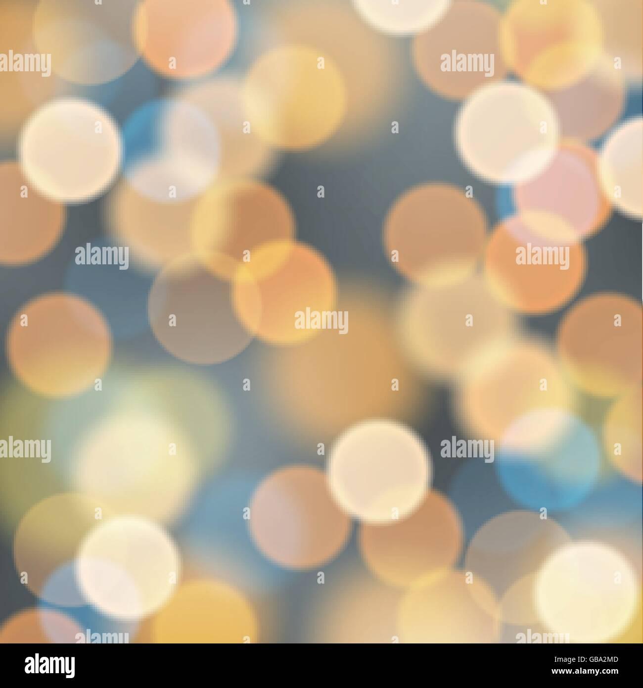Night city blur illumination lights - Stock Image
