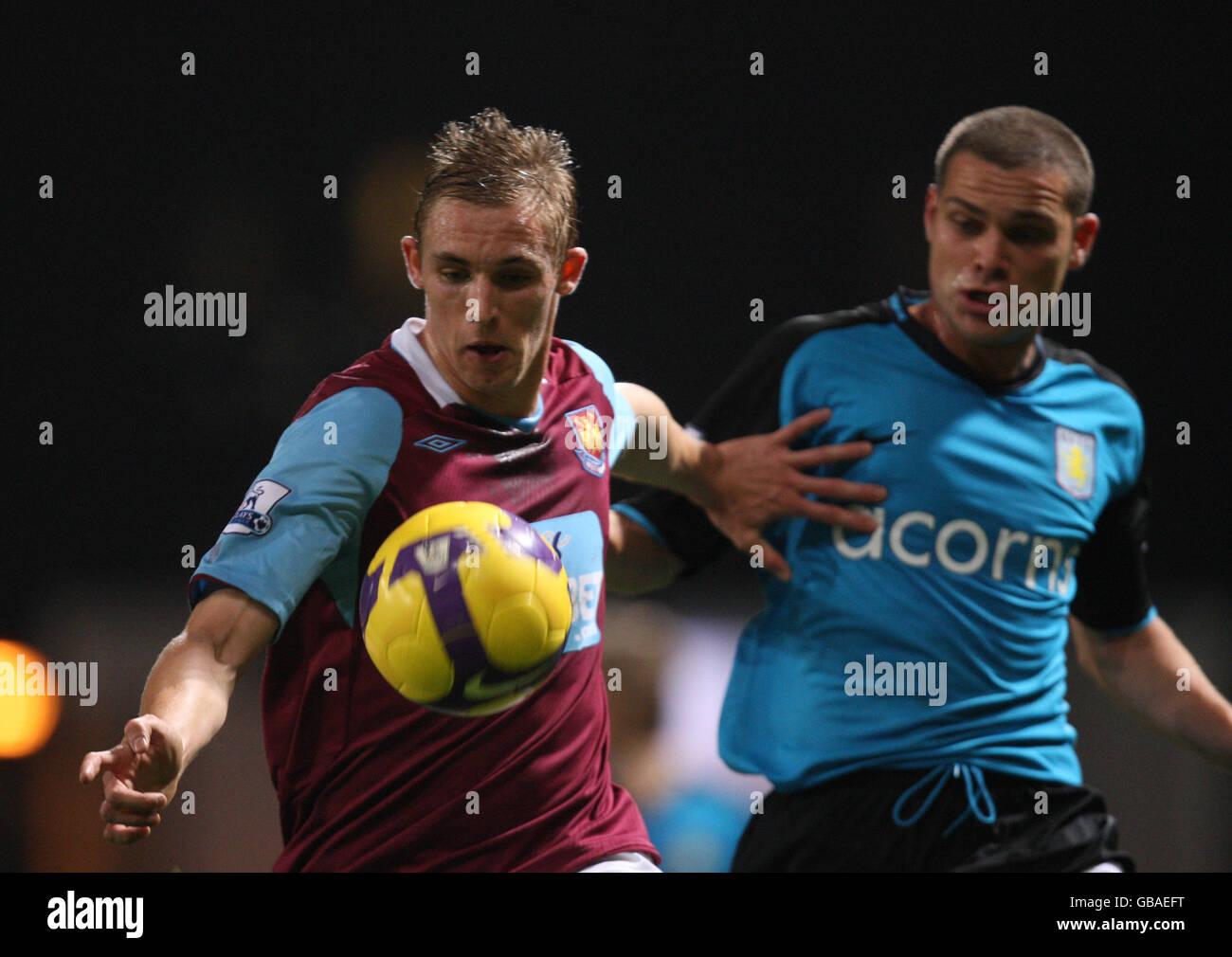 Soccer - Barclays Premier League - West Ham United v Aston Villa - Upton Park - Stock Image