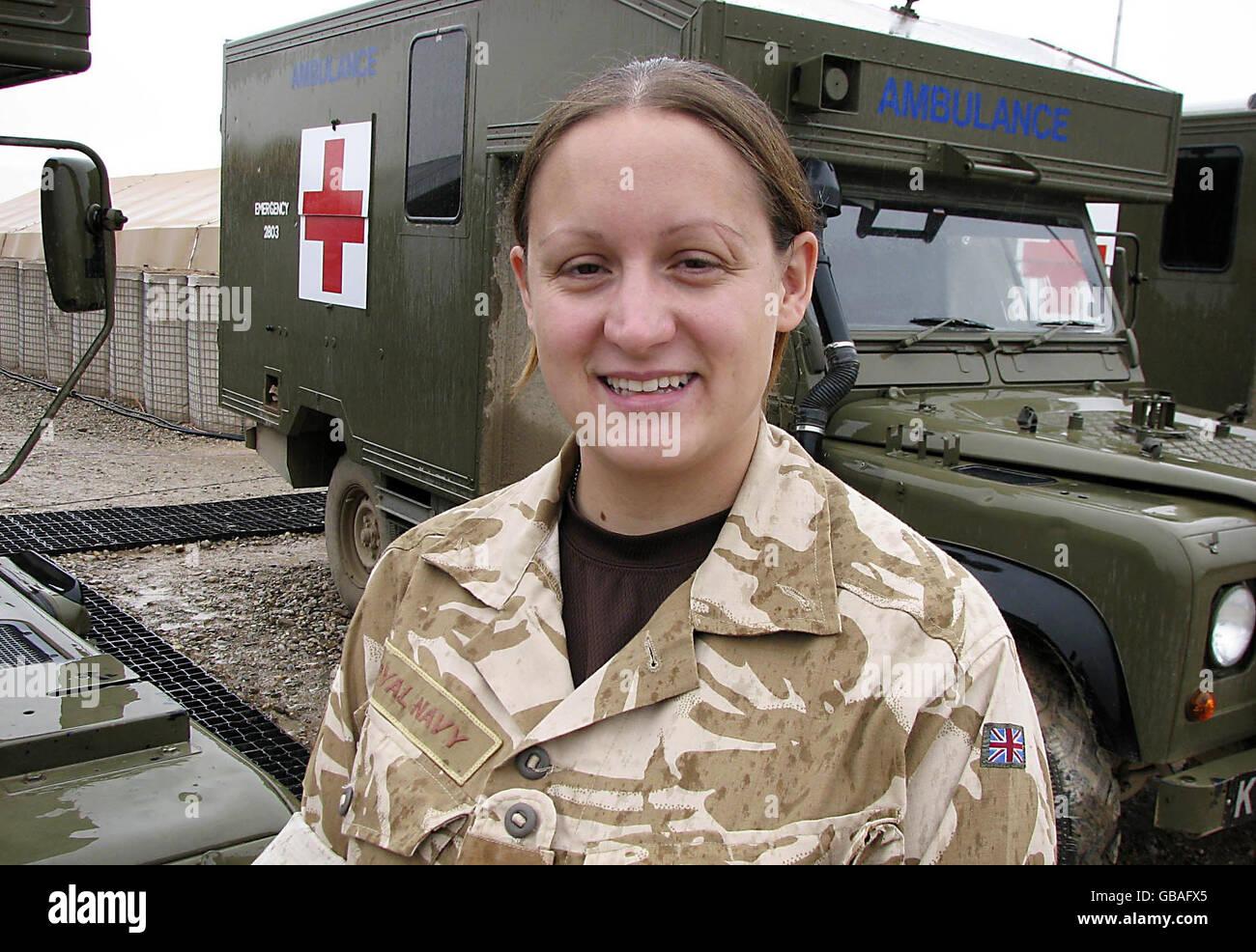 British troops in Afghanistan - Stock Image