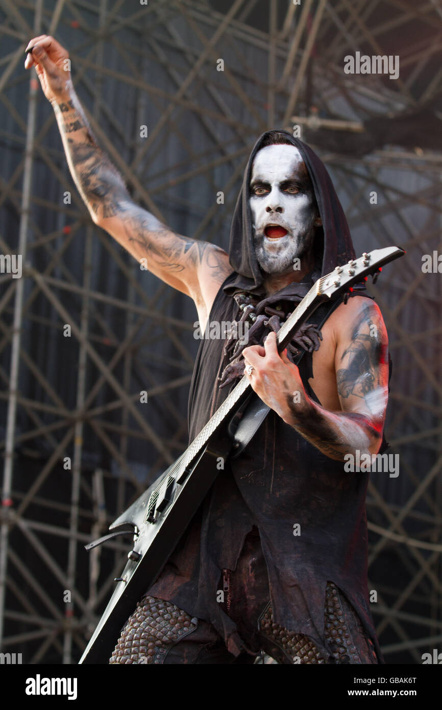 Milano,Italy 4th of July 2016 Behemoth performs live at Market Sound, Milano. © Davide Merli / Alamy Live News - Stock Image