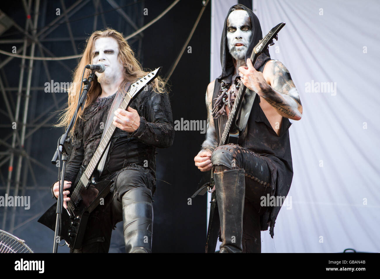 Milano,Italy 4th of July 2016 Behemoth performs live at Market Sound, Milano. © Davide Merli / Alamy Live News - Stock Image