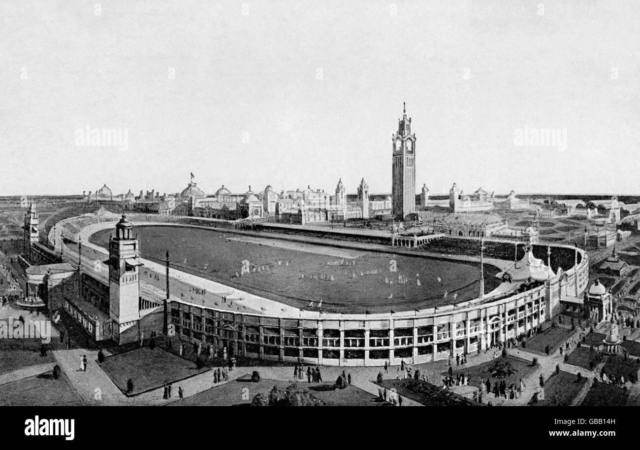 London Olympic Games 1908 - White City Stadium - Stock Image