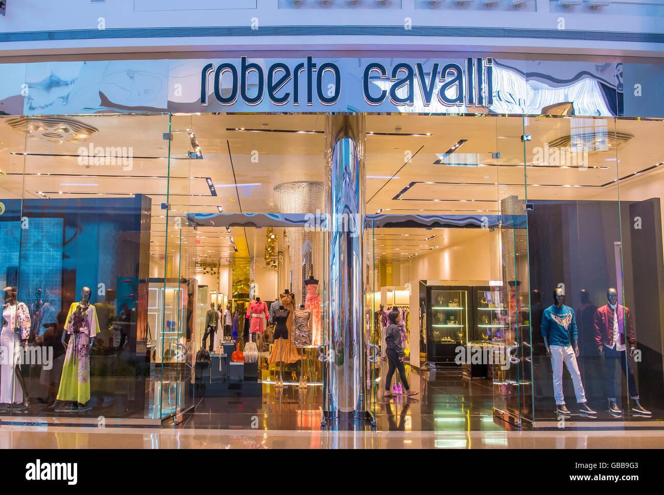 Exterior of a Roberto Cavalli store in Las Vegas strip Stock Photo