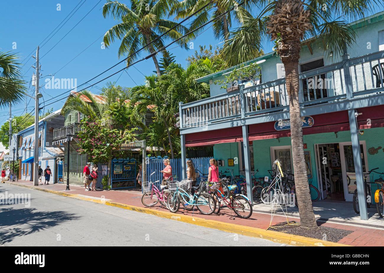 Florida, Key West, Bahama Village, shops, restaurants - Stock Image