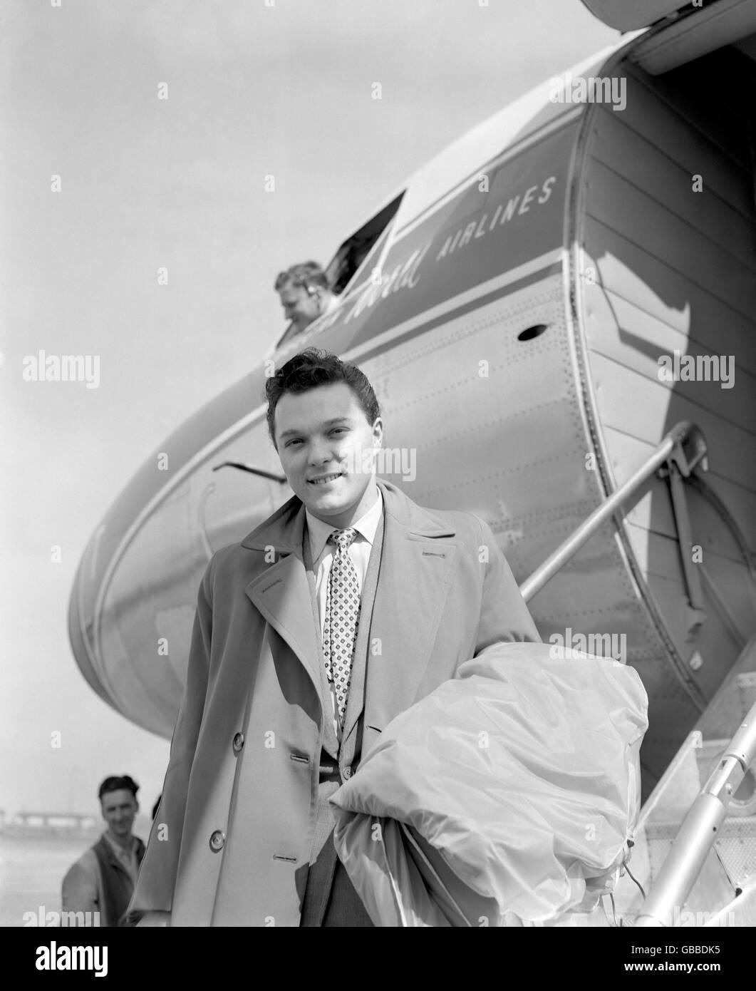 Music - Dickie Valentine - 1957 Stock Photo