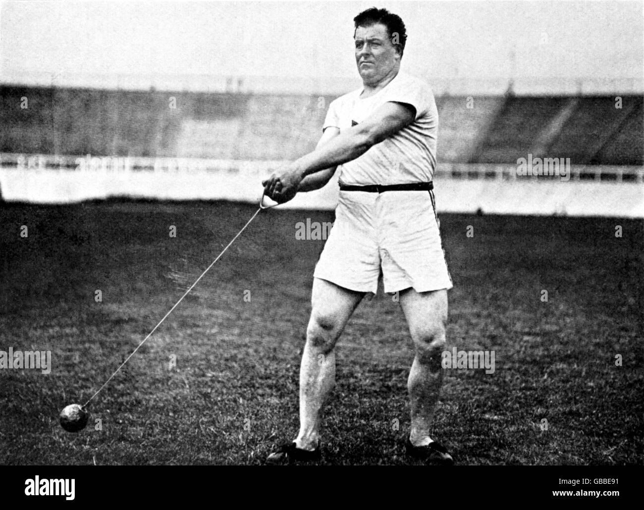 Athletics - London Olympic Games 1908 - Men's Hammer - Stock Image