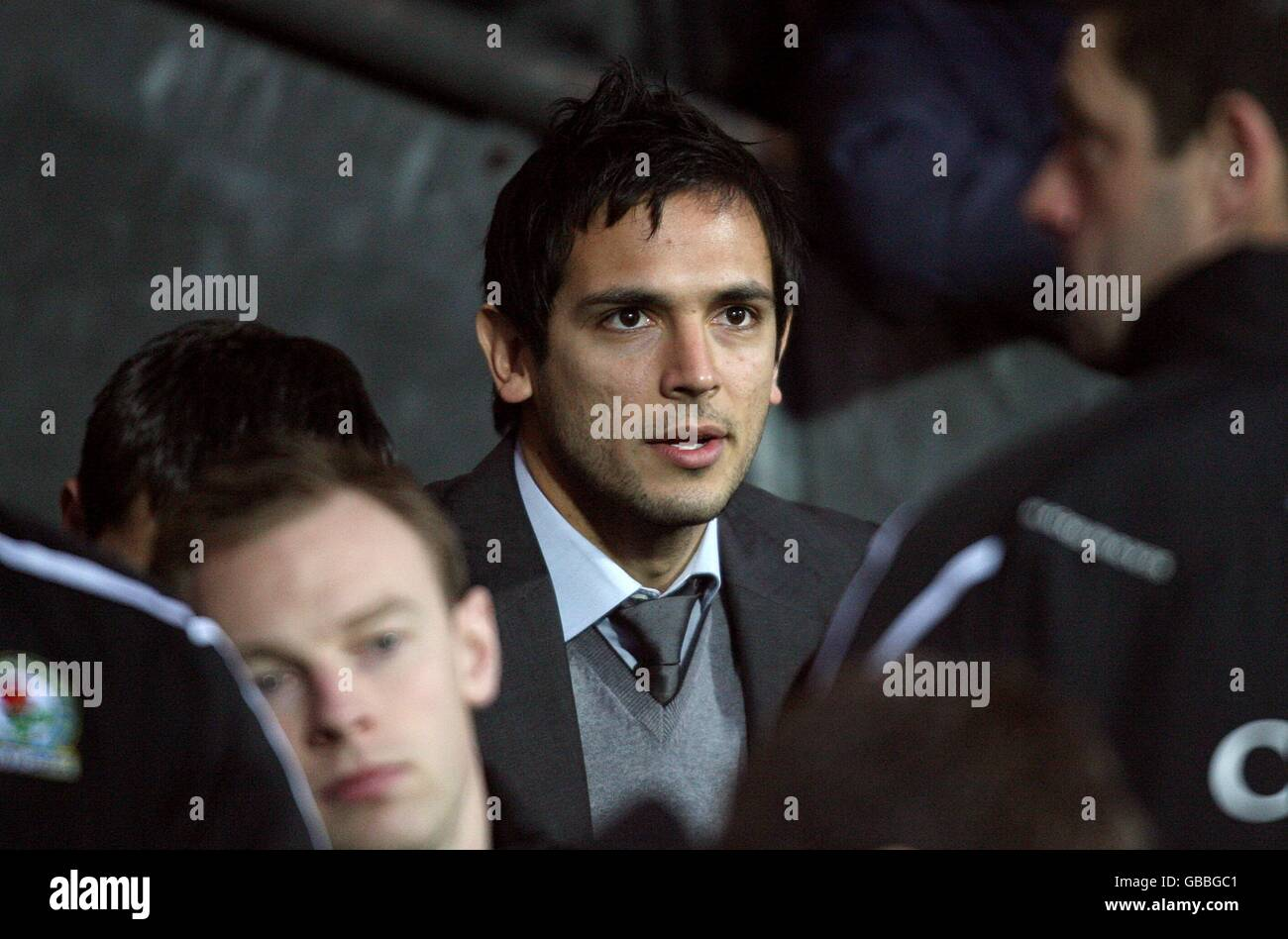 Blackburn Rovers Roque Santa Cruz Sits Amoungst The